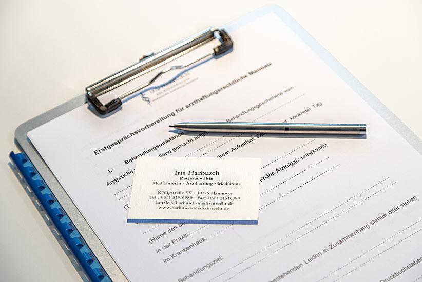 Formular Medizinrecht Hannover Kanzlei Harbusch